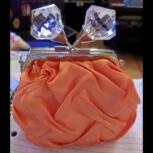 NWT Sondra Roberts Satin Tangerine Bag